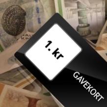 Gavekort/Værdibevis 1 kr.